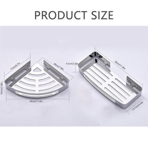 Stainless Steel Bathroom Corner Shelf Shower Caddy Storage Holder Organizer Rack