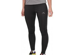 556704c23444 MORE MILE WOMENS LADIES EXCEL BLACK LONG RUNNING GYM FITNESS TIGHTS ...