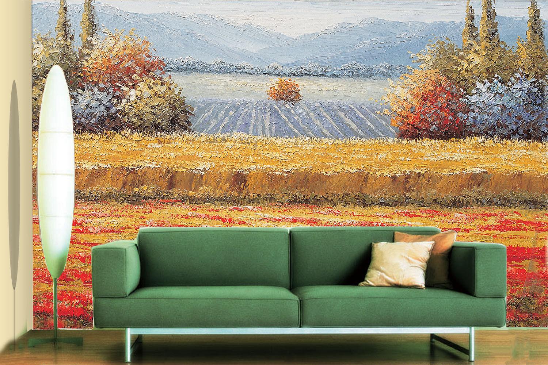 3D Field Paint 4258 WandPapier Murals Wand Drucken WandPapier Mural AJ Wand UK Lemon