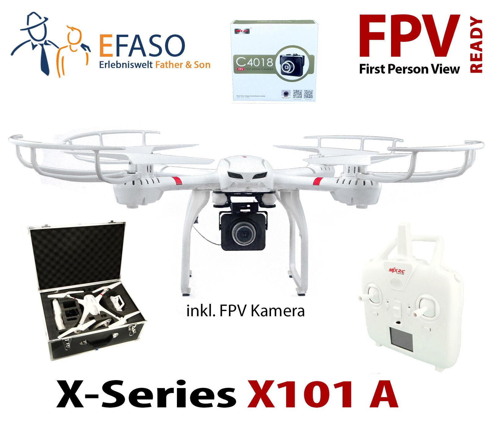 Efaso Mjx X101A FPV Wifi Drone con Videocamera HD C4018 Im Alta Valigetta
