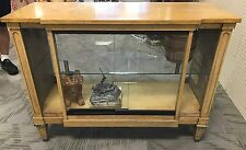 Vintage1 Of A Kind Console TV Converted See Truogh Glass Showcase Cabinet, Curio