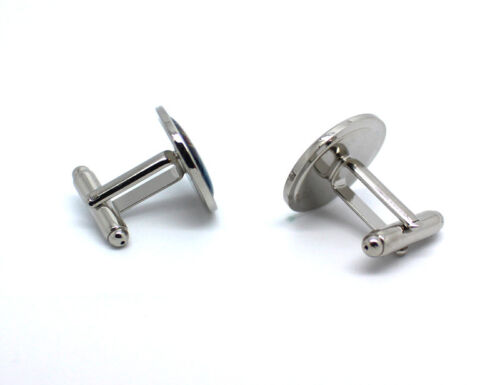 Lapwing Round Cufflink and Tie Clip Set