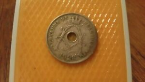 Belgium-1928-25-Centimes-coin-Royaume-de-Belgique-Albert-I