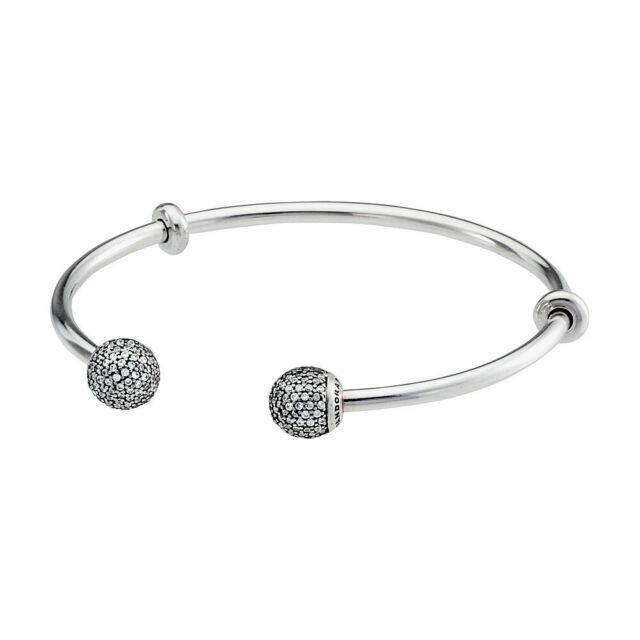 PANDORA Moments Open Bangle Silver Bracelet 596438CZ3