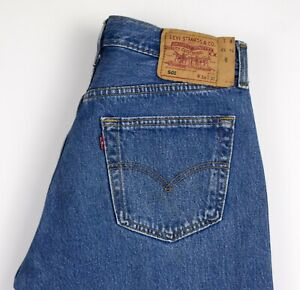 Levi-039-s-Strauss-amp-Co-Hommes-501-Jeans-Jambe-Droite-Taille-W34-L26-AMZ1308