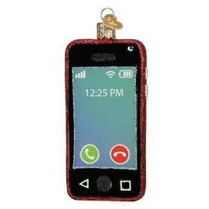 Old-World-Christmas-SMARTPHONE-cell-phone-32421-N-Glass-Ornament-w-OWC-Box