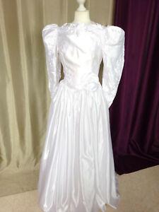 Robe-de-mariee-vintage-satin-Nuptialement-Votre-PARIS-Taille-FR38-US6-UK10-EUR36