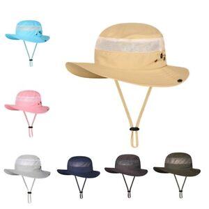 0fbf0e48 Boonie Bucket Hat Outdoor Fishing Hunting Wide Brim Mesh Camo Safari ...