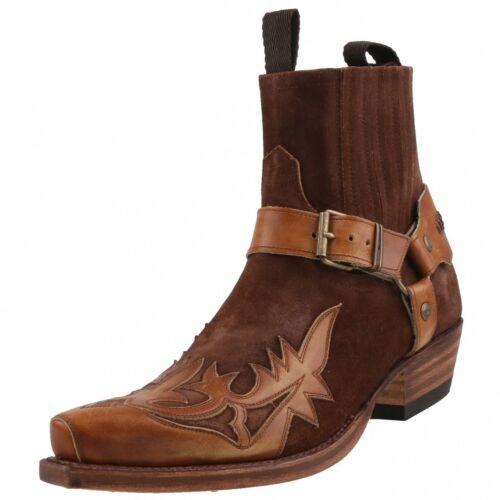 Nuevo Sendra botas vaqueras botas botín señores botas botas zapatos de piel