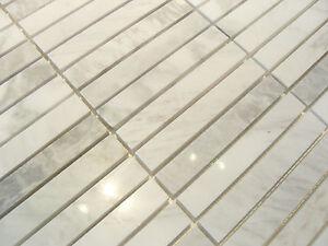 1 Qm Carrara Classic Naturstein Marmor Mosaik Poliert Fliesen Bad