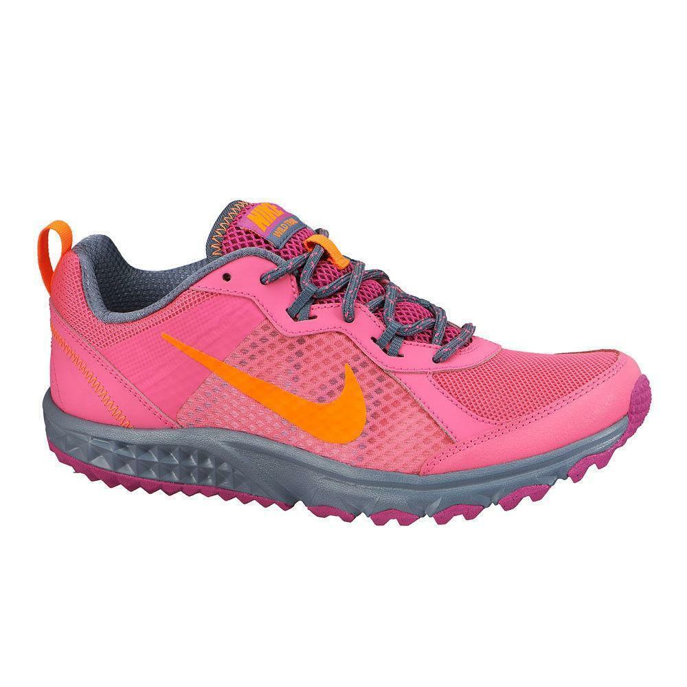 Da Donna Nike Wild Trail Scarpe da ginnastica rosa Pow tessile 643074 602