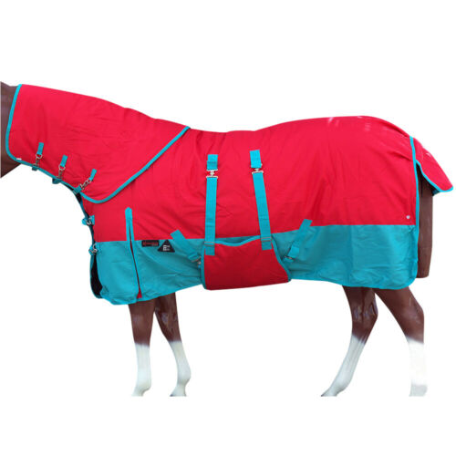 C-G-81 81 in Hilason 1200D Winter Horse Sheet Neck Cover Belly Wrap Turquoise