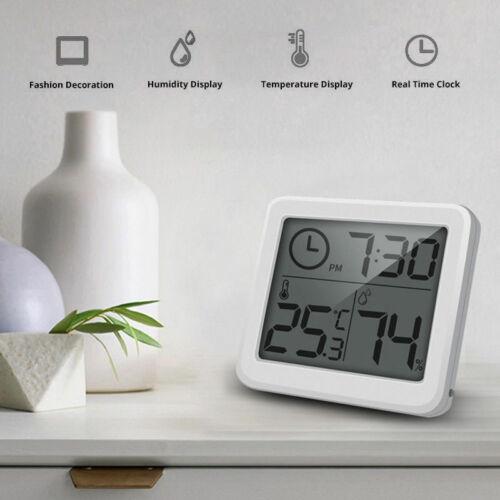 Elektronische Digital Hygrometer Uhr Luftfeuchtigkeit Thermometer Temperatur