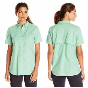 "New Womens Columbia  PFG /""Bonehead II/"" Short Sleeve Fishing Shirt"
