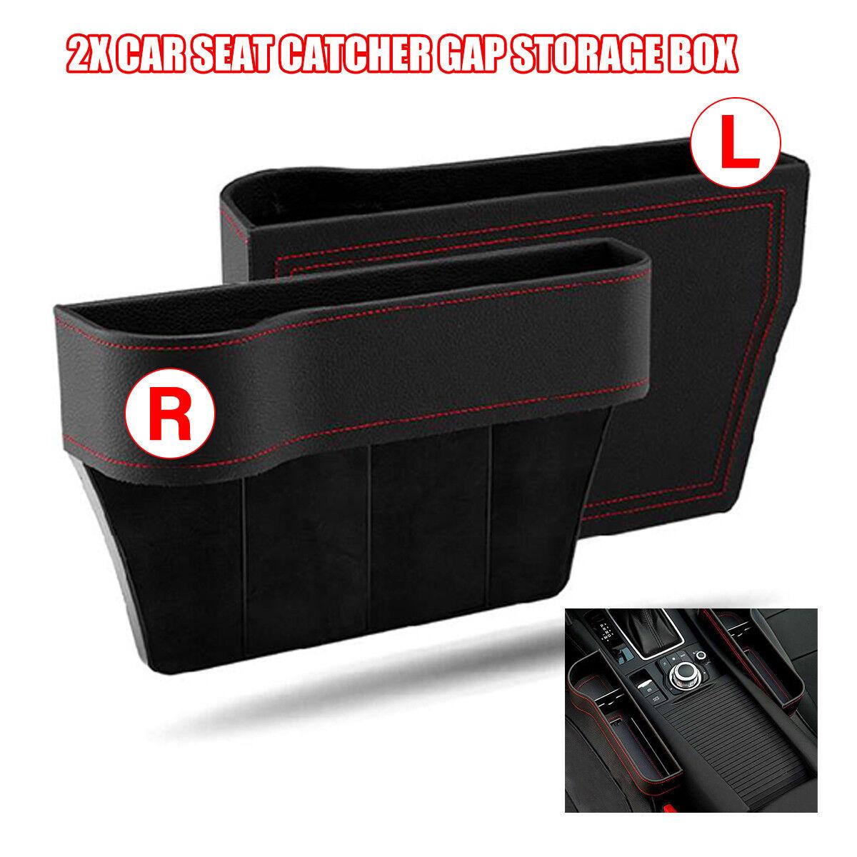 PU Pelle DESTRA Car Seat Gap per Fessure Scatola Di Immagazzinaggio Pocket Organizer telefono