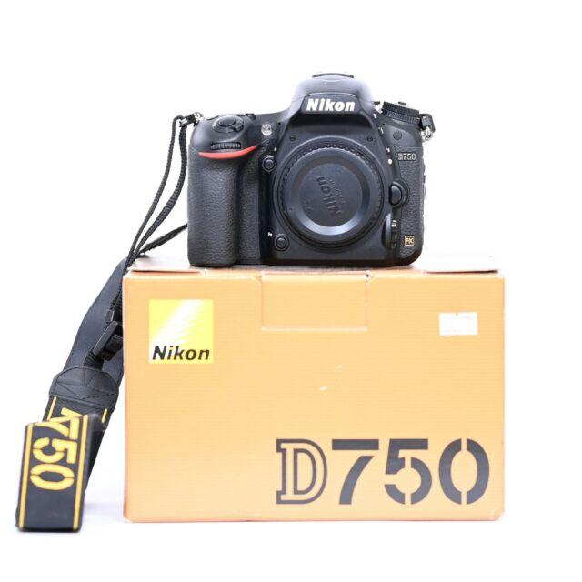MINT Nikon D750 24.3 MP Full Frame Digital SLR Camera Black 46568 Actuations