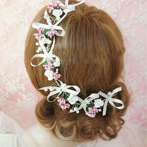 Braut Haar Kopf Schmuck Teil Frisur Hochzeit Dirndl Gesteck Tiara
