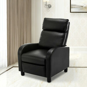 Details about Manual Leisure Recliner Sofa Chair Lounge Couch Accent  Armchair Living Room