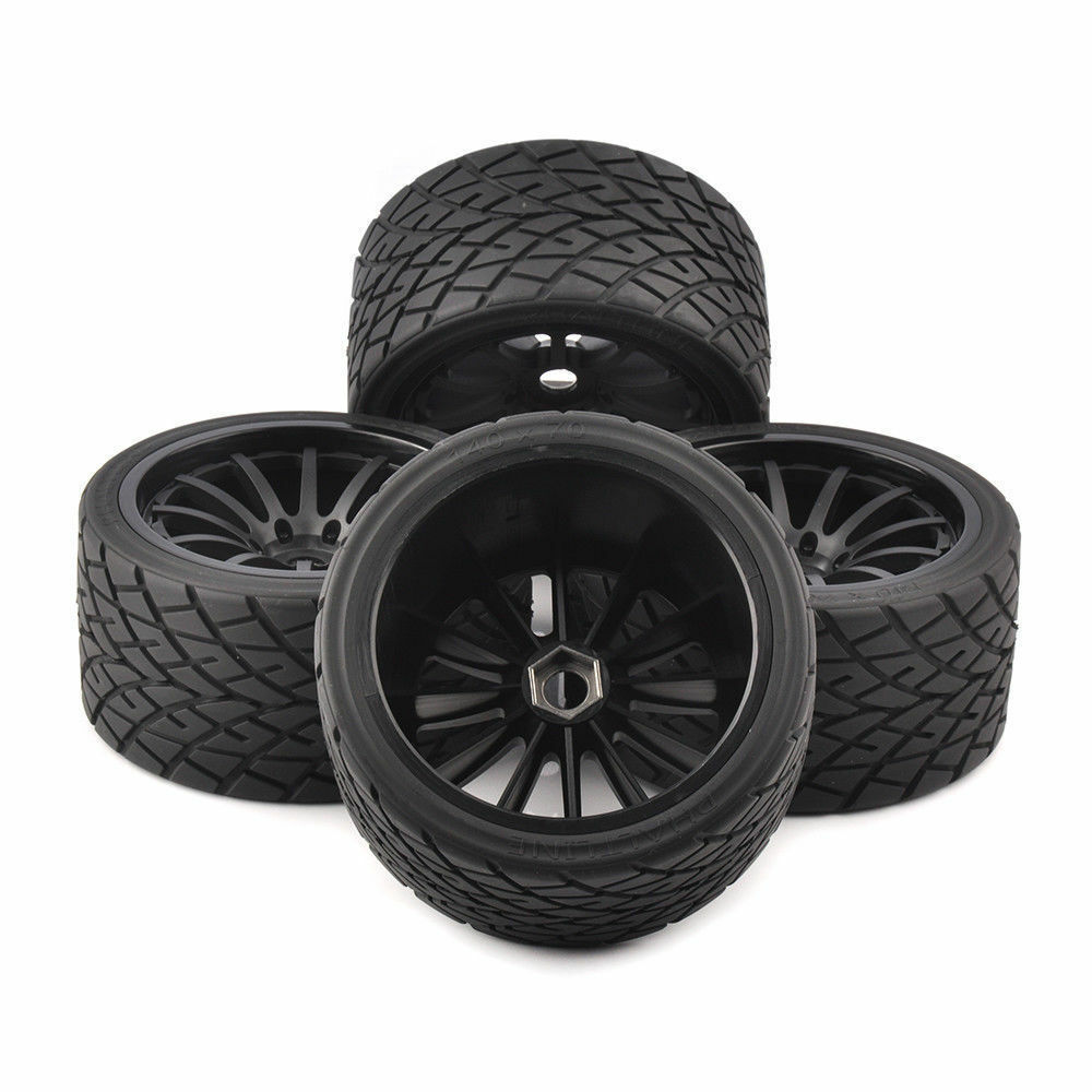 4Pcs Neumáticos De Camión Monstruo Bigfoot Llantas hexagonal de 17mm Para Traxxas Truck 26412