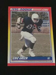 Details About 1990 Score 629 Eric Green Liberty Flames Rc Rookie Football Card