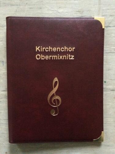 Chormappe Notenmappe Marschmusikmappe Schreibmappen Musikzubehöhr