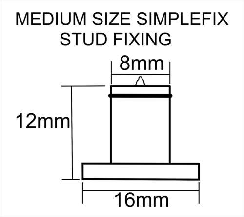 Simplefix Stand off Sign Locator STUD FIXINGS 50 Letter Fixing STUDS MEDIUM
