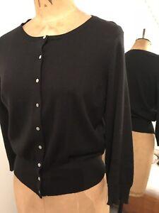 Black Hobbs Knit Size Cardigan Fine 12 ACU1Cqg