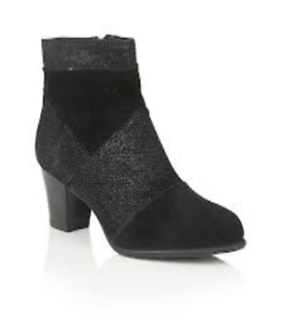 Ladies Ravel Tarrant Chelsea Dealer Tassel Ankle Boots Black Suede Leather UK 8