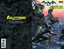 Batman Teenage Mutant Ninja Turtles TMNT #1 Bulletproof Variant Dell'Otto Cover!