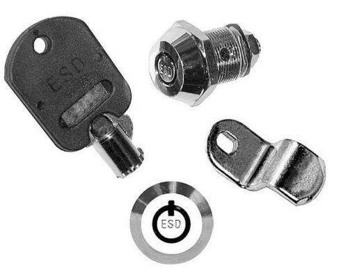 Key Code 777  ESD TUBULAR SERVICE DOOR LOCK Model 0400ET