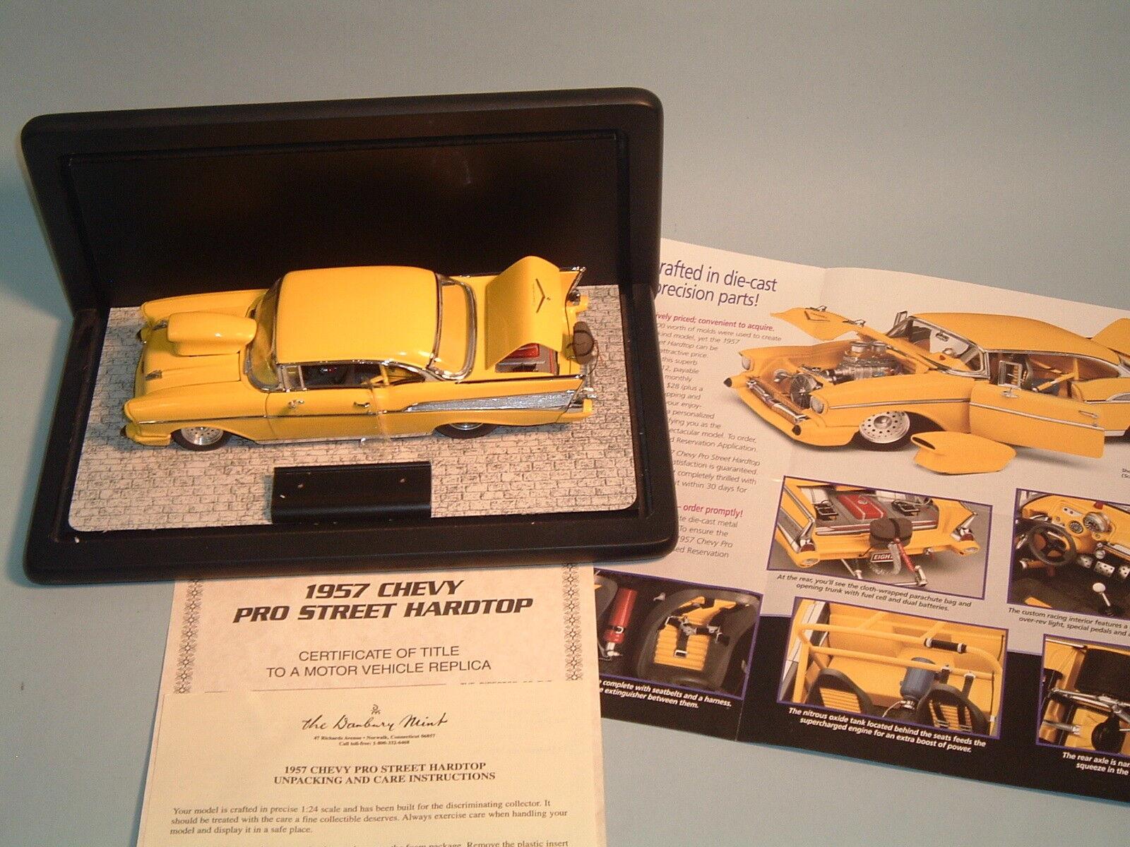 1957er chevrolet bel air pro street gelbe hardtop danbury - druckguss und dpy 24