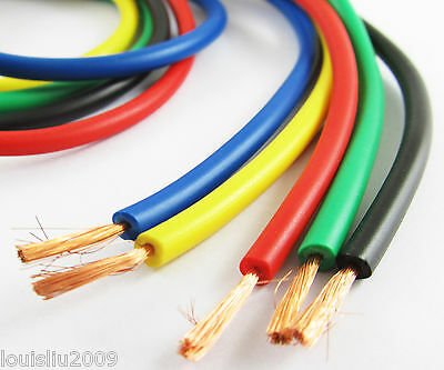 1set 5 Colors 1M 3.3Ft 16AWG Heatproof/Low Resistence Soft Silicon Wire Cable