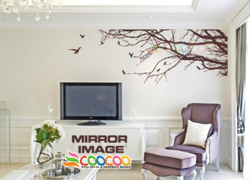 """Wall Decor Decal Sticker Mural Removable X Large size Corner Top Branch 100/""""W"""