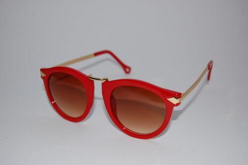 Años 80 Moda Retro Remade Gafas Sol Vintage Metal Redondo Arrow 4 Colores Uv400