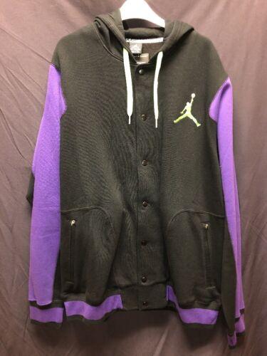 Jordan Varsity Jacket Size XXL Black And Purple New With Original Tags547693 013