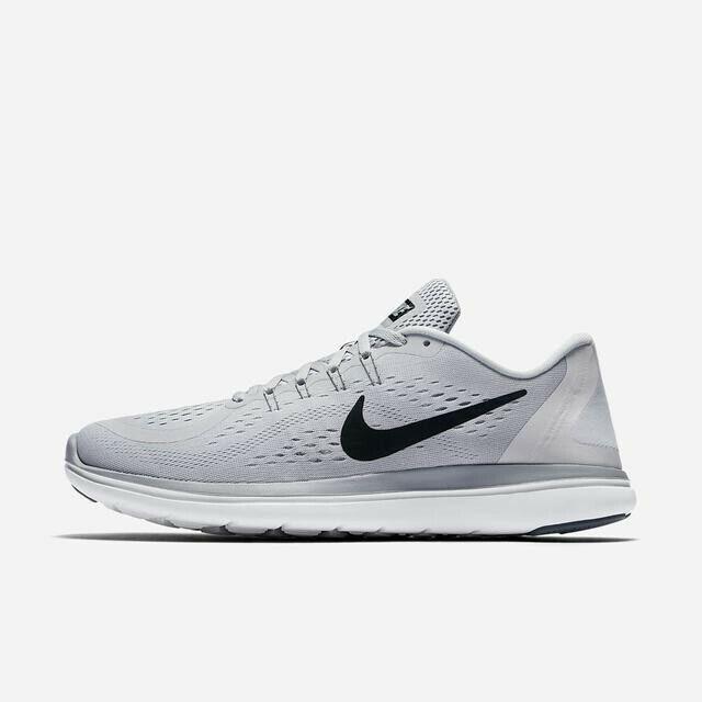 Nike Flex 2017 RN 898457-002 Pure Platinum Black Grey Men's Running shoes NEW