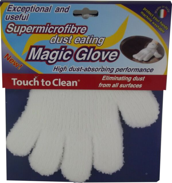 Touch to Clean Microfibre Dust Eating Gloves One Pair