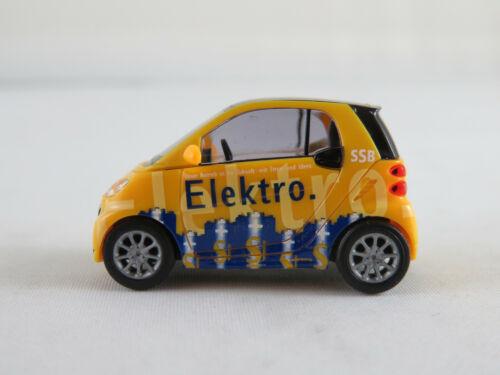 """/""""SSB/"""" mit Zapfsäule 1:87//H0 NEU//OVP 2012 Busch 46221 Smart Fortwo Elektro"""