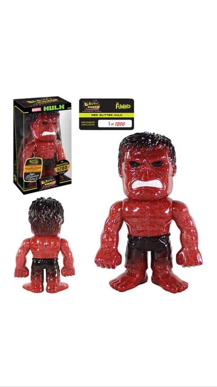 Hikari  marvel  hulk rote glitzer feuer ltd ausgabe von 1200