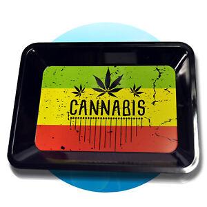 Drehunterlage-Rolling-Tray-Schaber-Magnet-Tabak-Dreh-Tablett-Drehen-Cannabis