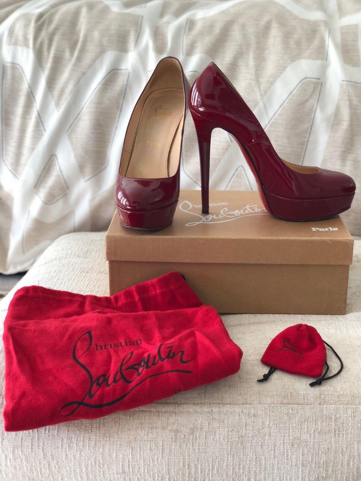 Christian Louboutin white 140 140 140 Patent Calf RED Size 39 217070