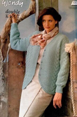 "wendy DK Knitting Pattern Ladies Cardigan Jacket Size 32//42/"" Chest"
