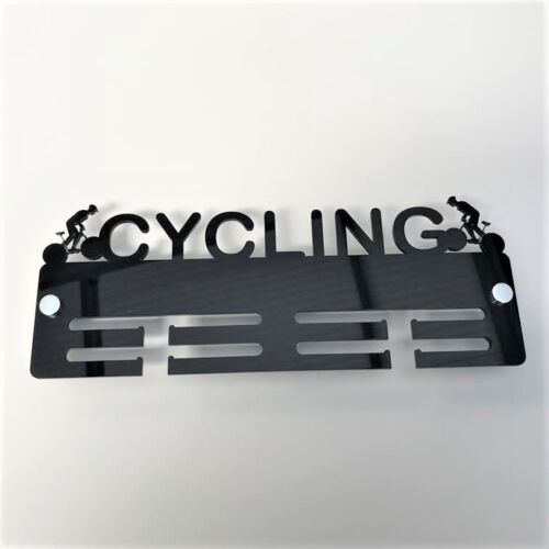 Cyclist Medal Holder / Hanger - Many Colour Choices - Includes all Fixings