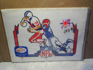NFL PLACE MATS Football Running Back SEALED,Rare,Vintage,c.a.reed,tackle,#38,#48