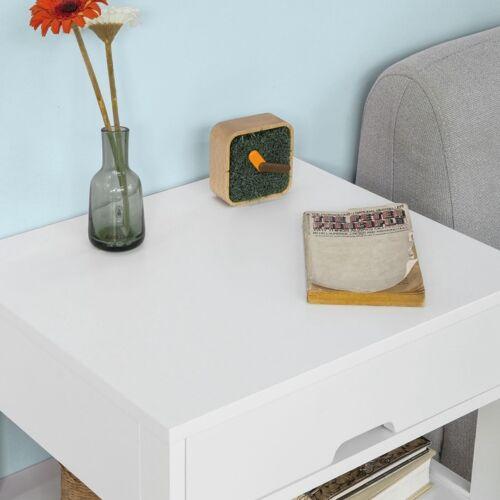 B-Waren Beistelltisch Nachttisch Nachtschrank mit 2 Schubladen,FRG258-W-bwaren