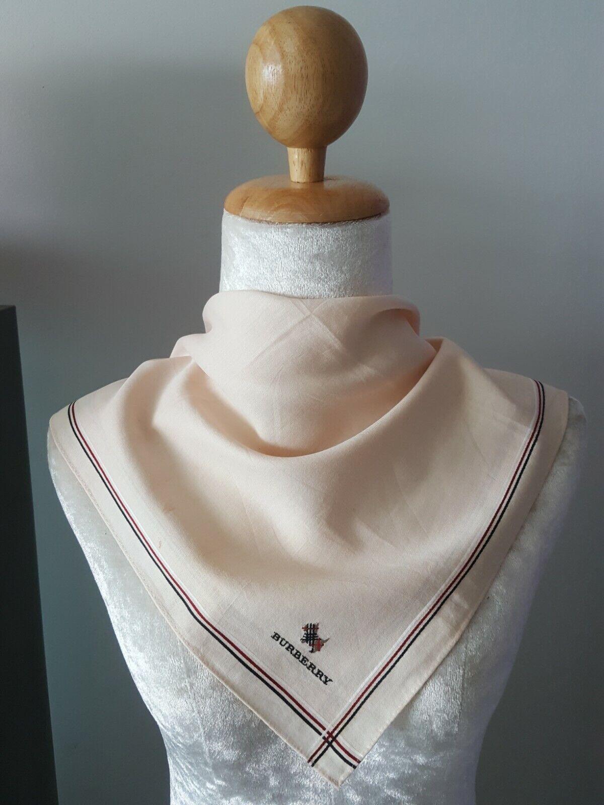 BurberryUnisex Plain Embroidered Dog Logo Square Cotton Handkerchief 18