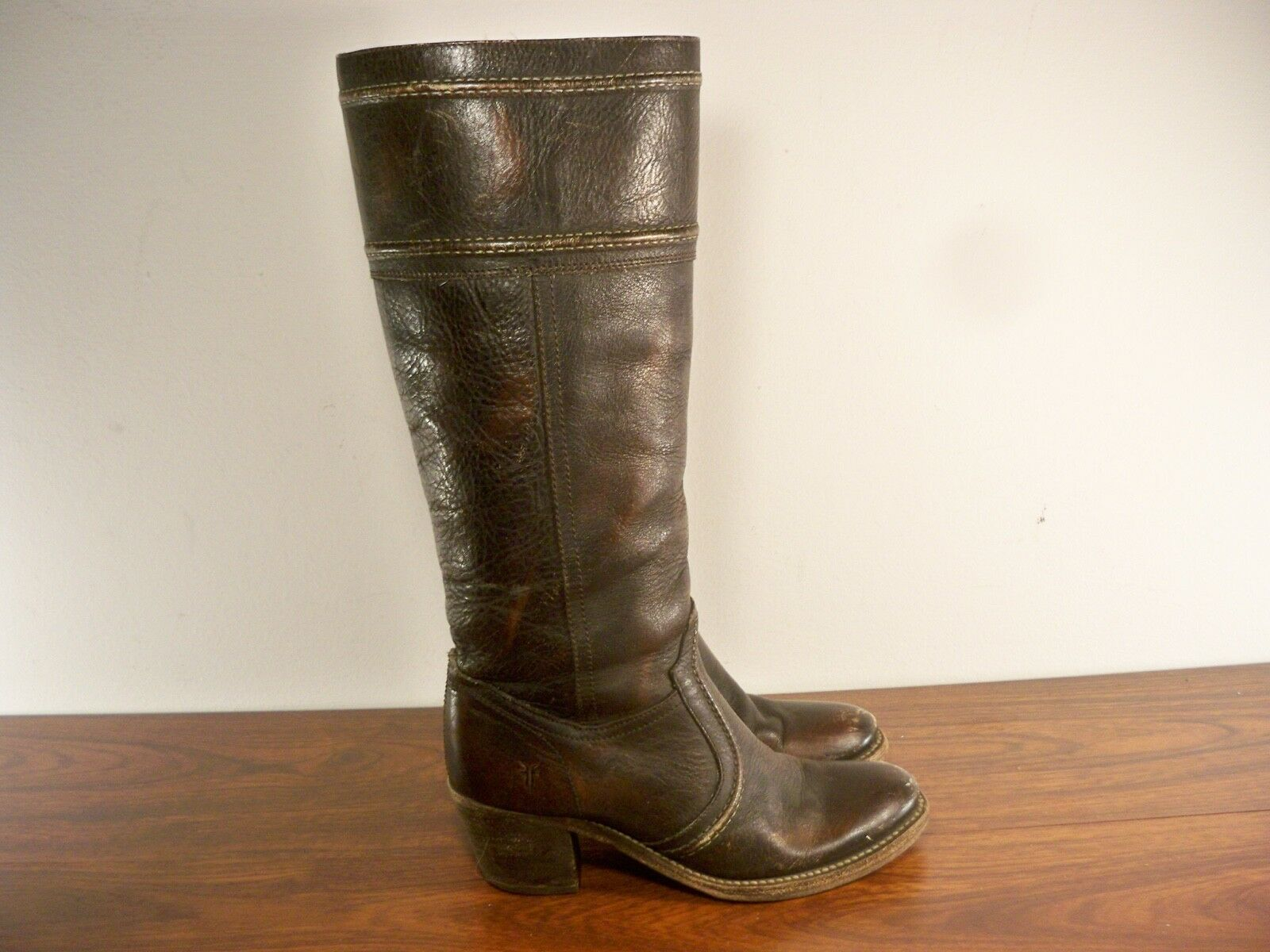 FRYE Women's   77234 Jane 14L Tall Western Stacked Heel Knee-High Boots Size 6.5
