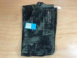 08e43801d BALMAIN ACID WASHED STRETCH DENIM BIKER JEANS OLIVE BLACK MEN'S 32 ...