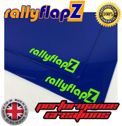 Mudflaps /& Fijaciones para caber Ford Focus RS MK2 RS300 Azul 4mm PVC-RF logotipo Cal Gr