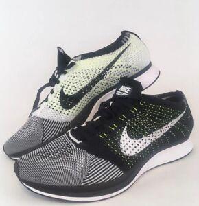 info for ffc9d 40464 Image is loading Nike-Flyknit-Racer-Black-White-526628-01-Oreo-